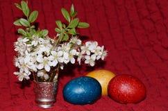 wielkanoc jaj kwiaty Zdjęcie Royalty Free