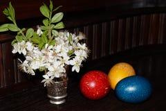 wielkanoc jaj kwiaty Fotografia Royalty Free