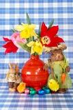 wielkanoc jaj sweets tulipany świąteczne Obraz Stock