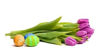 wielkanoc jaj tulipany wiosny symboli Zdjęcia Royalty Free