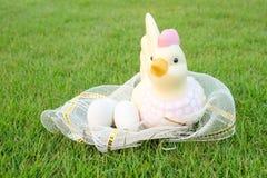 Wielkanoc, jajka i kurczak, Zdjęcie Royalty Free