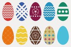 wielkanoc jajka odłogowania Kolekcja święta religijne atrybut wektor ilustracja wektor