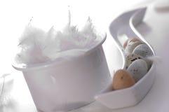 wielkanoc jajka szczęśliwi Obraz Royalty Free