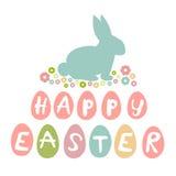Wielkanoc karty szczęśliwy Zdjęcia Stock
