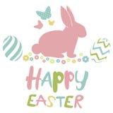 Wielkanoc karty szczęśliwy Zdjęcie Royalty Free