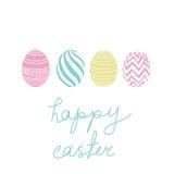Wielkanoc karty szczęśliwy Fotografia Stock