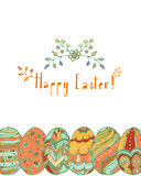 Wielkanoc karty szczęśliwy Zdjęcia Royalty Free