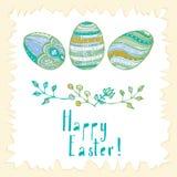 Wielkanoc karty szczęśliwy Obraz Stock