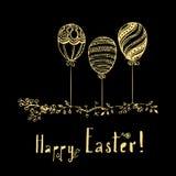 Wielkanoc karty szczęśliwy Obrazy Stock