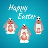 Wielkanoc karty szczęśliwy Zdjęcie Stock