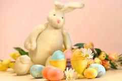Wielkanoc kolor królicze jaj Fotografia Royalty Free