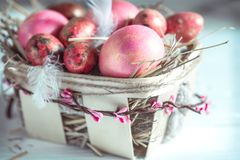 Wielkanoc koszykowi jaj Fotografia Stock