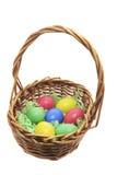 Wielkanoc koszykowi jaj Zdjęcia Royalty Free