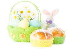 Wielkanoc koszykowi jaj Zdjęcie Royalty Free