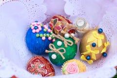 Wielkanoc koszykowi jaj Obraz Stock