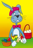 Wielkanoc królicze malarz Zdjęcie Stock