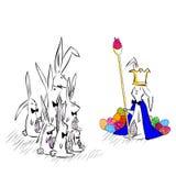 Wielkanoc królik royalty ilustracja