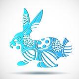 wielkanoc królik Wektorowy królik Obraz Royalty Free