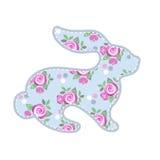 Wielkanoc królik Wektorowy rocznika królik z różami Zdjęcia Royalty Free