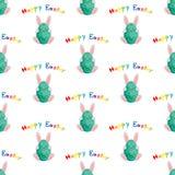 Wielkanoc królika jajko ilustracyjny bezszwowy wektor Obrazy Royalty Free