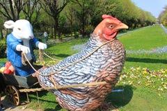 Wielkanoc królika meadows scena Zdjęcie Royalty Free