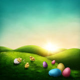 Wielkanoc krajobraz obraz royalty free