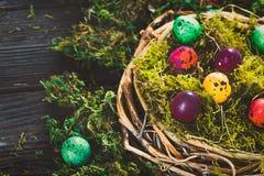 Wielkanoc na drewnie Zdjęcia Stock