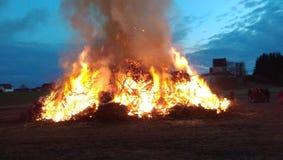 Wielkanoc ogień Obraz Royalty Free