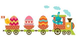Wielkanoc pociąg ilustracji