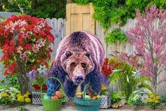 Wielkanoc przynosi za niedźwiadkach cieszyć się nową wiosnę fotografia stock