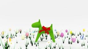 Wielkanoc psi szczeniak royalty ilustracja