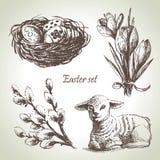 Wielkanoc set Obrazy Royalty Free