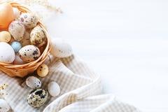 wielkanoc szczęśliwy Gratulacyjny Easter tło wielkanoc jaj kwiaty Obraz Stock