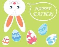 wielkanoc szczęśliwy królika barwioni Easter jajka wektor Zdjęcia Royalty Free