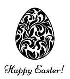 wielkanoc szczęśliwy Wielkanocny jajko robić zawijasy i kwiecisty elementu isol Zdjęcie Stock