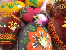 Wielkanoc tła jajko malowaniu Obrazy Royalty Free