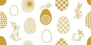 Wielkanoc tła szczęśliwy Minimalizmu styl royalty ilustracja