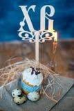 Wielkanoc tort, jajka Obraz Royalty Free