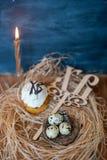 Wielkanoc tort, jajka Zdjęcia Royalty Free
