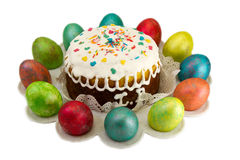 Wielkanoc tort z jajkami. Zdjęcie Stock