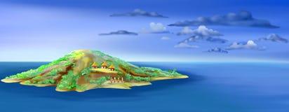 wielkanoc wyspę ilustracja wektor
