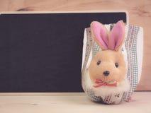 Wielkanoc z Wielkanocnym królikiem Zdjęcie Royalty Free