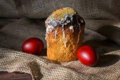 Wielkanoc zasycha, jajka, na powierzchni Fotografia Stock