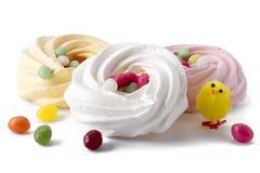 Wielkanocna beza z galaretowymi fasolami zdjęcie royalty free