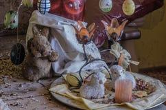 Wielkanocna dekoracja w domu fotografia royalty free