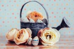 Wielkanocna dekoracja z pastelowymi kolorami Obrazy Royalty Free