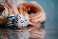 Wielkanocna dekoracja z pastelowymi kolorami Zdjęcie Stock