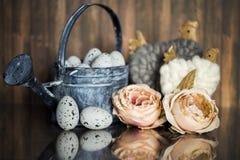 Wielkanocna dekoracja z pastelowymi kolorami Obraz Royalty Free