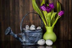 Wielkanocna dekoracja z pastelowymi kolorami Zdjęcia Royalty Free