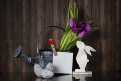 Wielkanocna dekoracja z pastelowymi kolorami Zdjęcie Royalty Free